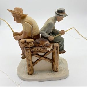 Rockwell Fishing Old Timers bone China figure